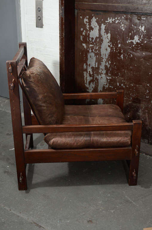 English Arts And Crafts Leather Chair At 1stdibs