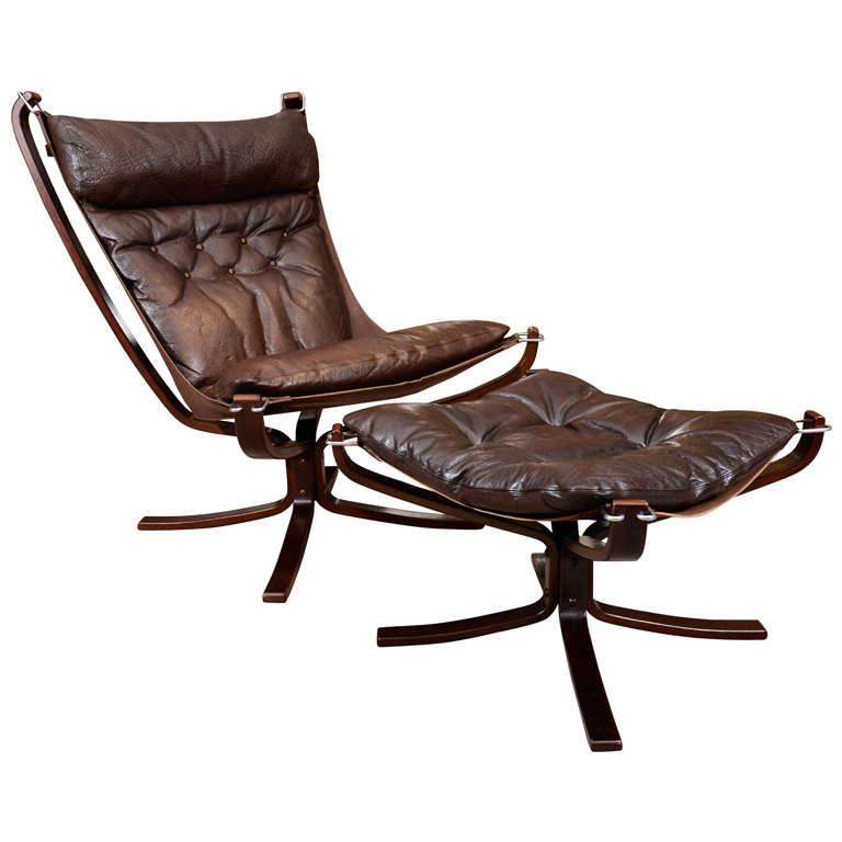 Falcon Chair And Ottoman By Sigurd Russell At 1stdibs