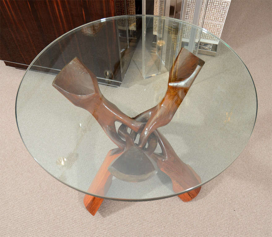 Free-Form Rosewood End Table For Sale 1