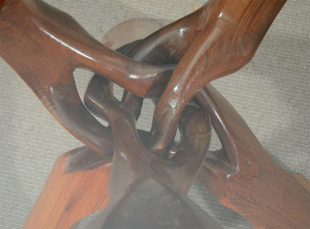 Free-Form Rosewood End Table For Sale 2