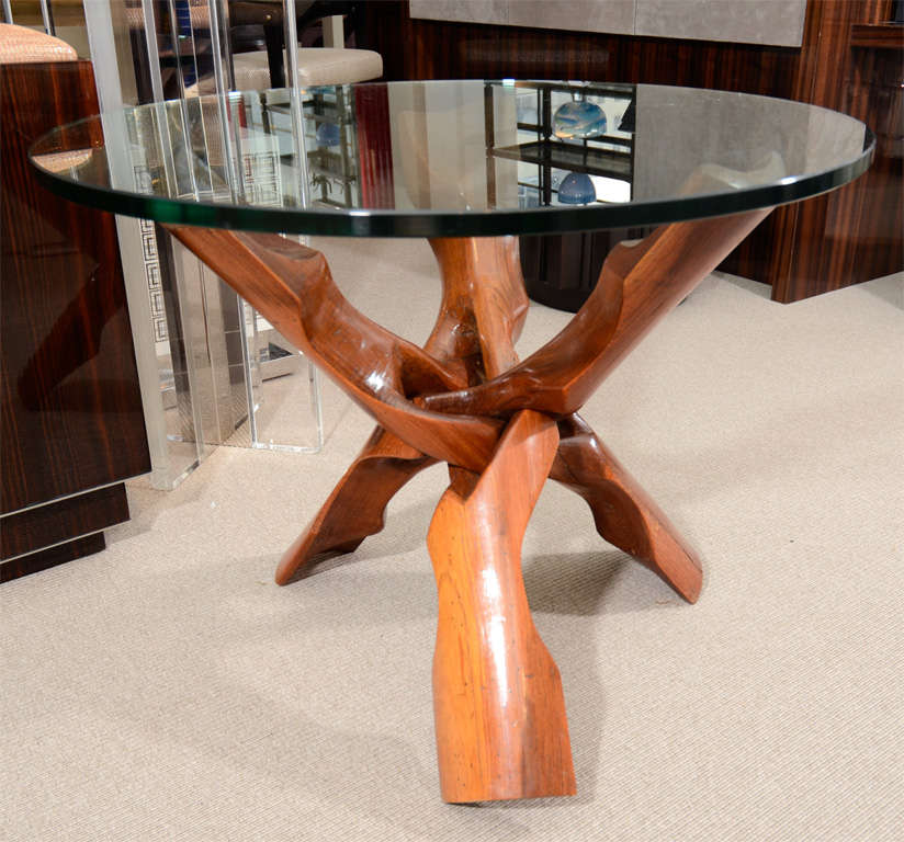 Free-Form Rosewood End Table For Sale 3