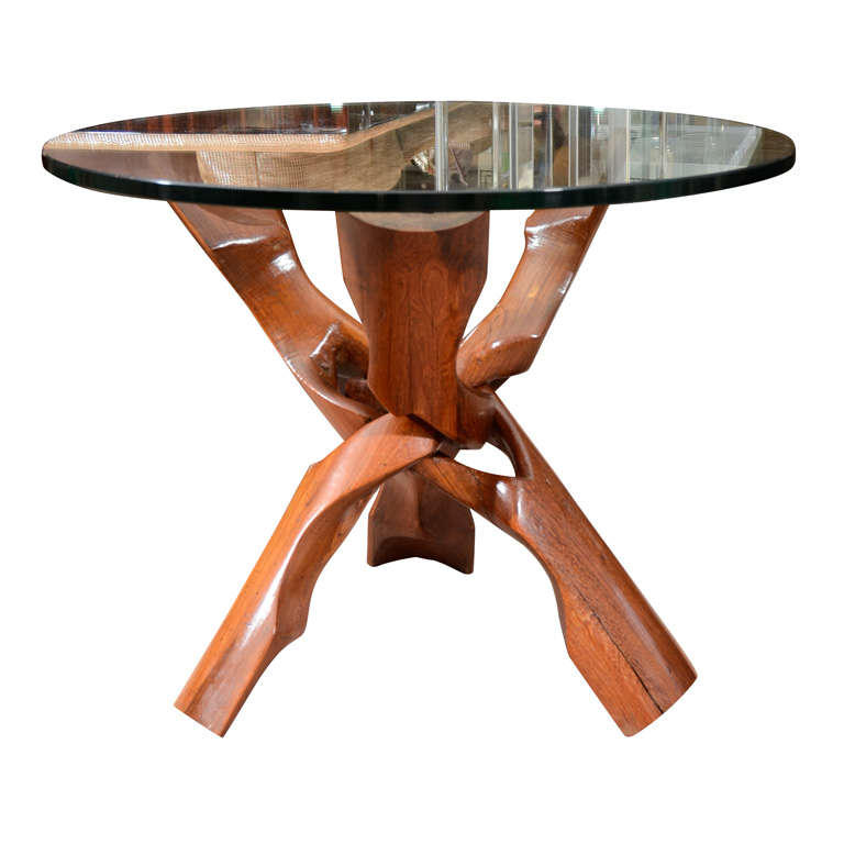 Free-Form Rosewood End Table