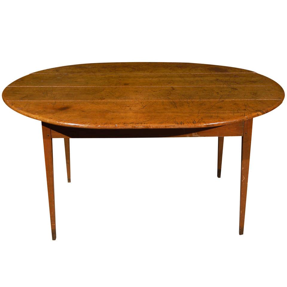 1860 georgia walnut farm table at 1stdibs for Table decor international marietta ga