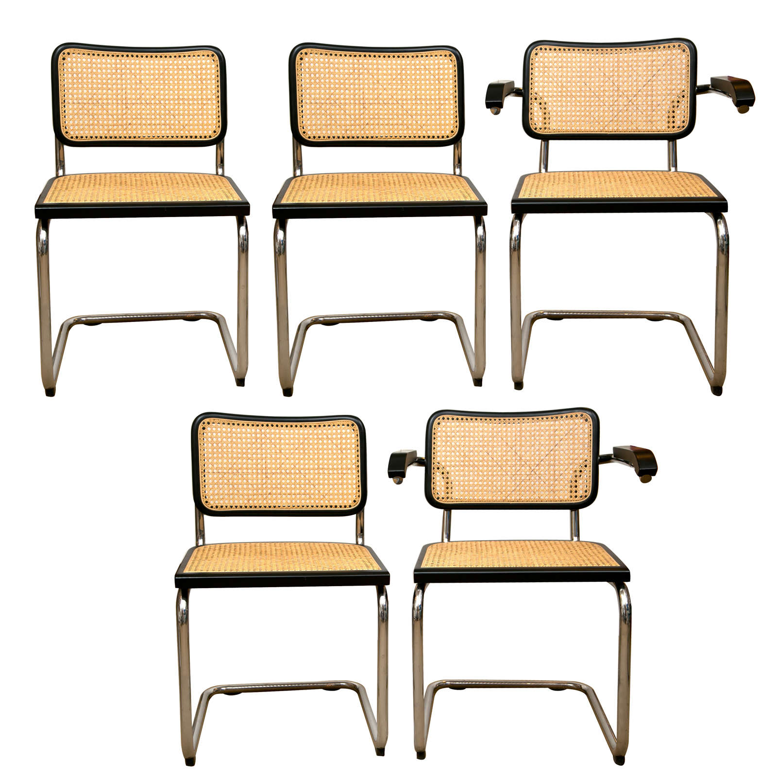 Cesca Chairs by Marcel Breuer 1