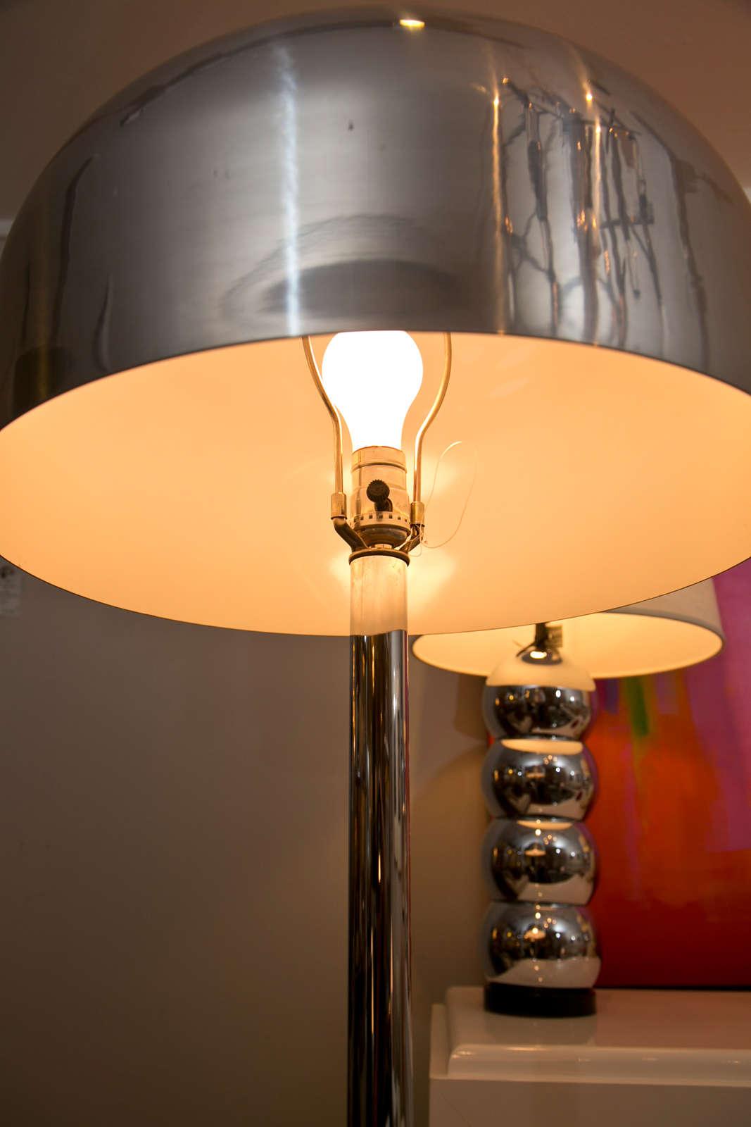 American Pair of Mushroom Floor Lamps For Sale