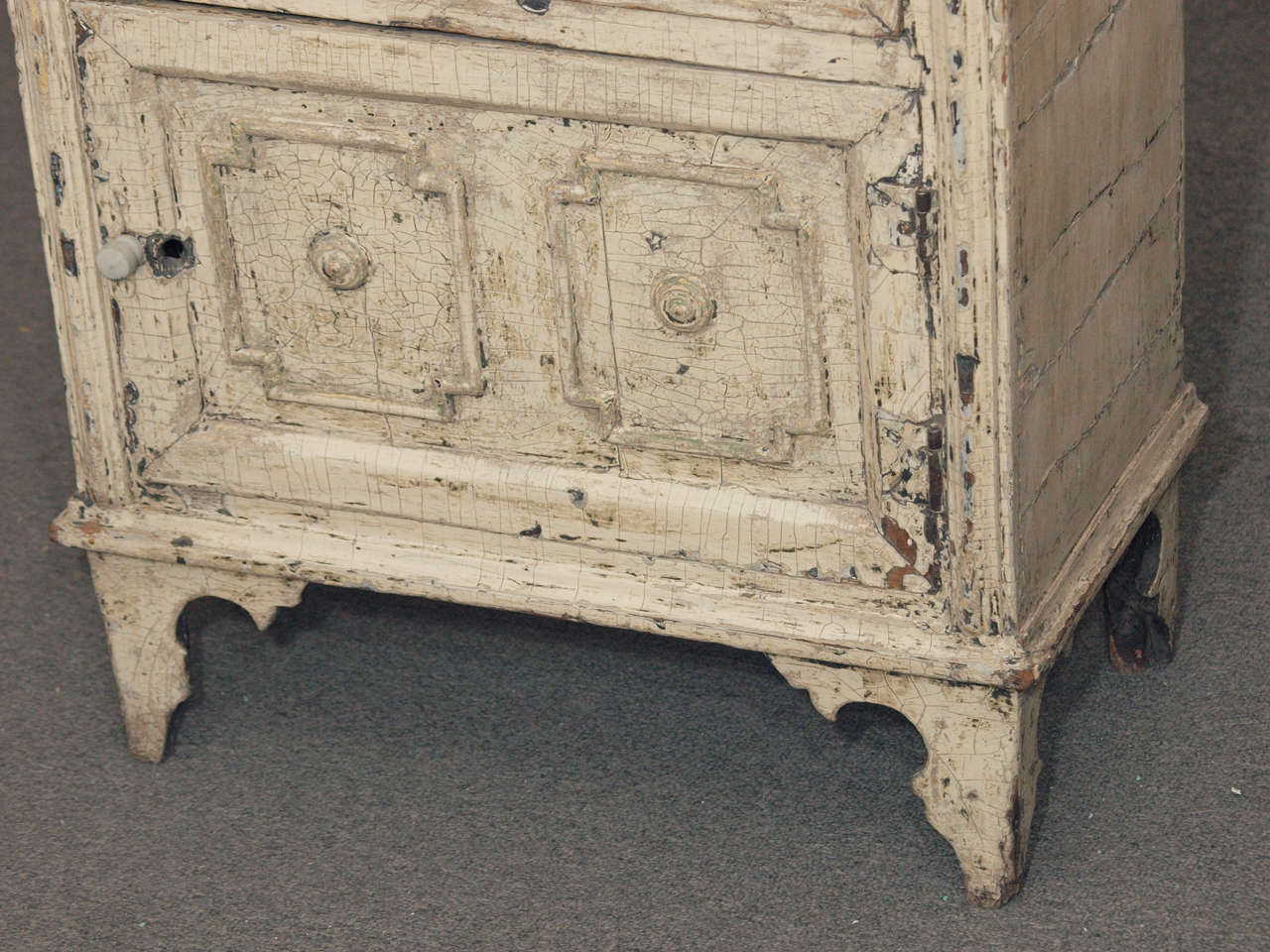 Rustic Chinoiserie Style Italian Painted Cabinet At 1stdibs