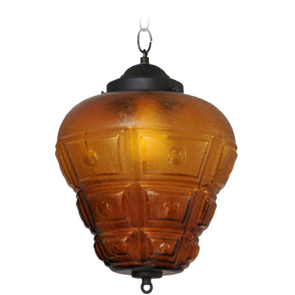 SALE!SALE! AMBER CEILING PENDANT,LARGE,RESTORED,modernism