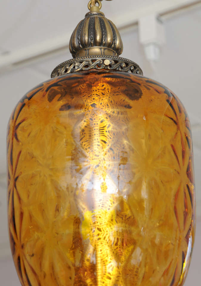 SALE,HUGE AMBER,antique CEILING PENDANT,restored,rewired,MOVING NEXT DOOR,  In Excellent Condition For Sale In Miami, Miami Design District, FL