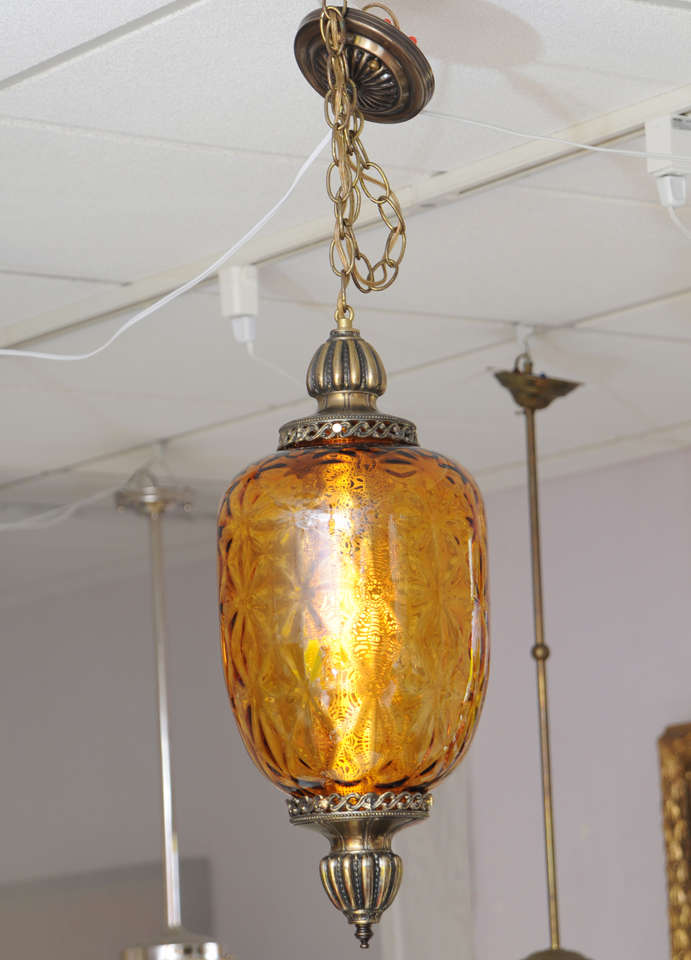 Glass SALE,HUGE AMBER,antique CEILING PENDANT,restored,rewired,MOVING NEXT DOOR,  For Sale