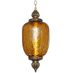 Huge Antique Amber Pendant Restored Drama on the Ceiling several available