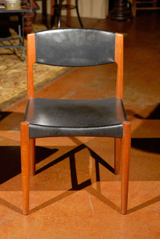 Danish Modern Set Of Six Vintage Dining Chairs At 1stdibs