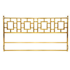 Mastercraft brass headboard - King size