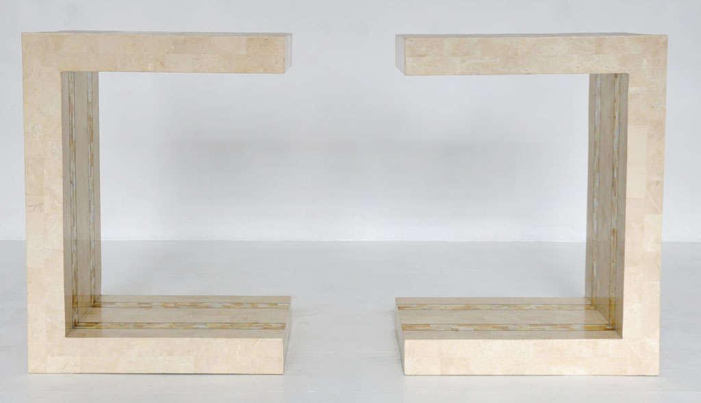 Mid-Century Modern Maitland-smith Tessellated Stone Tables