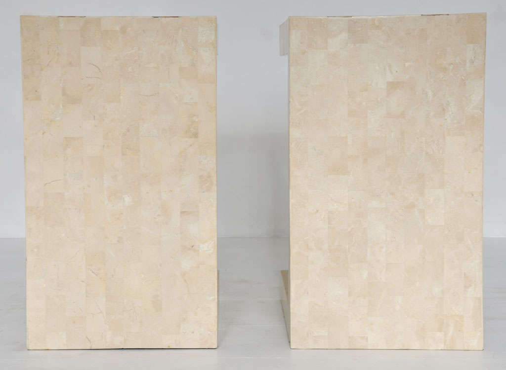 Maitland-smith Tessellated Stone Tables In Excellent Condition In Chicago, IL