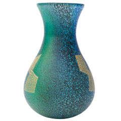 Japanese Glass Flower Vase by Iwata Hisatoshi.