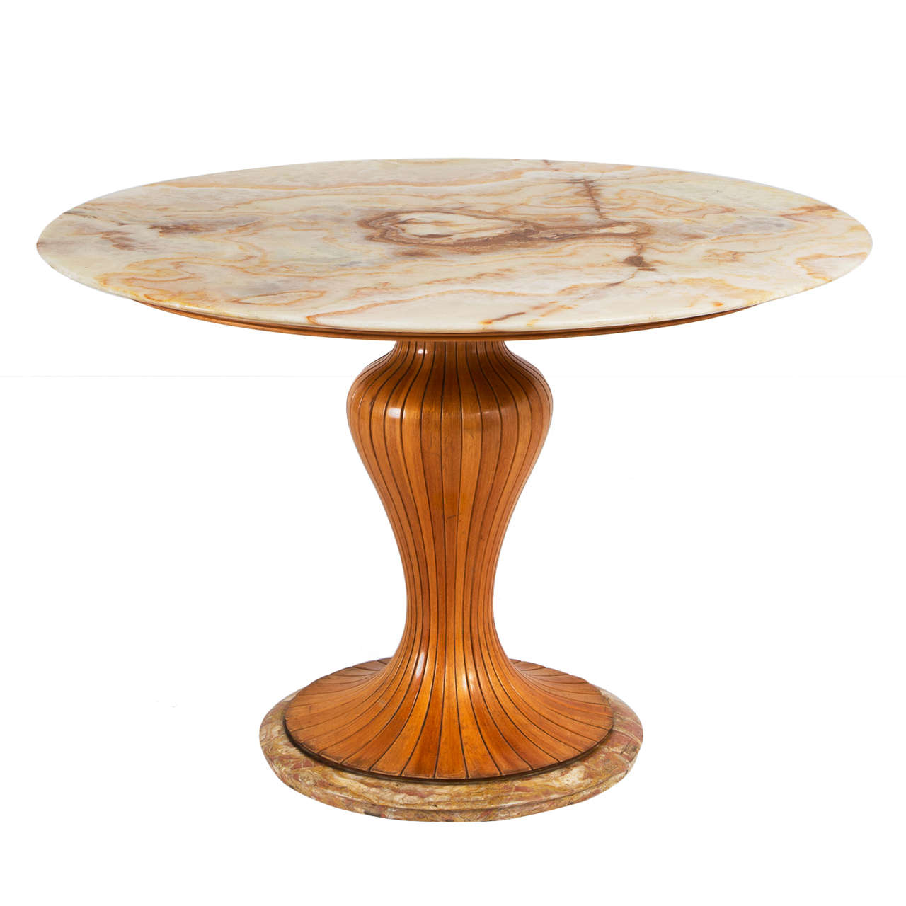 Osvaldo Borsani Pedestal Dining Table With Marble Top