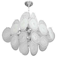 Custom 36 Clear Disc Chandelier