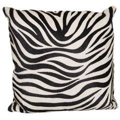 Custom Faux Zebra Cowhide Pillow
