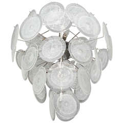 Clear Disc Chandelier