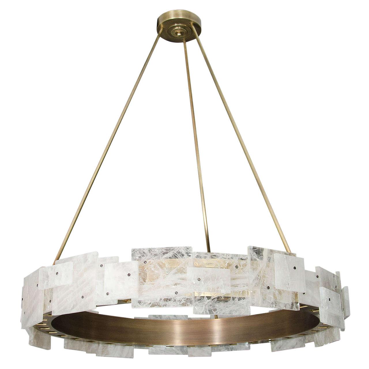 Antique rock chandelier antique bagues french cut rock crystal custom rock crystal and antique brass led chandelier at antique rock chandelier aloadofball Choice Image
