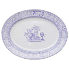 Violet Transferware Serving Platter, circa 1870