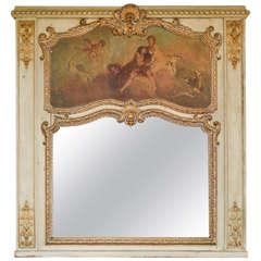 Louis XVI Style Trumeau Mirror, Circa 1890