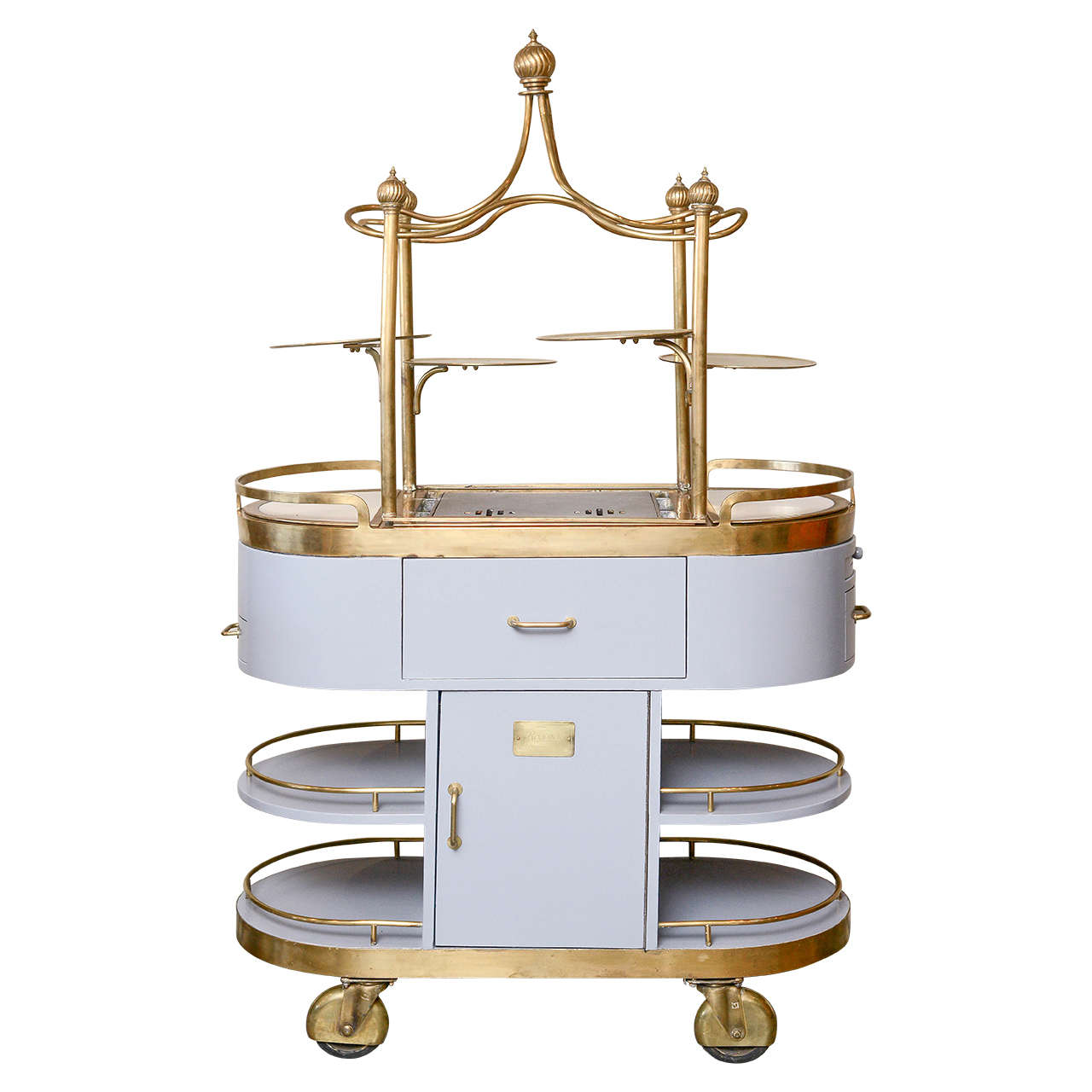 American art nouveau style food cart mid 20th century at for American nouveau cuisine