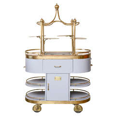 American Art Nouveau Style Food Cart, Mid-20th Century