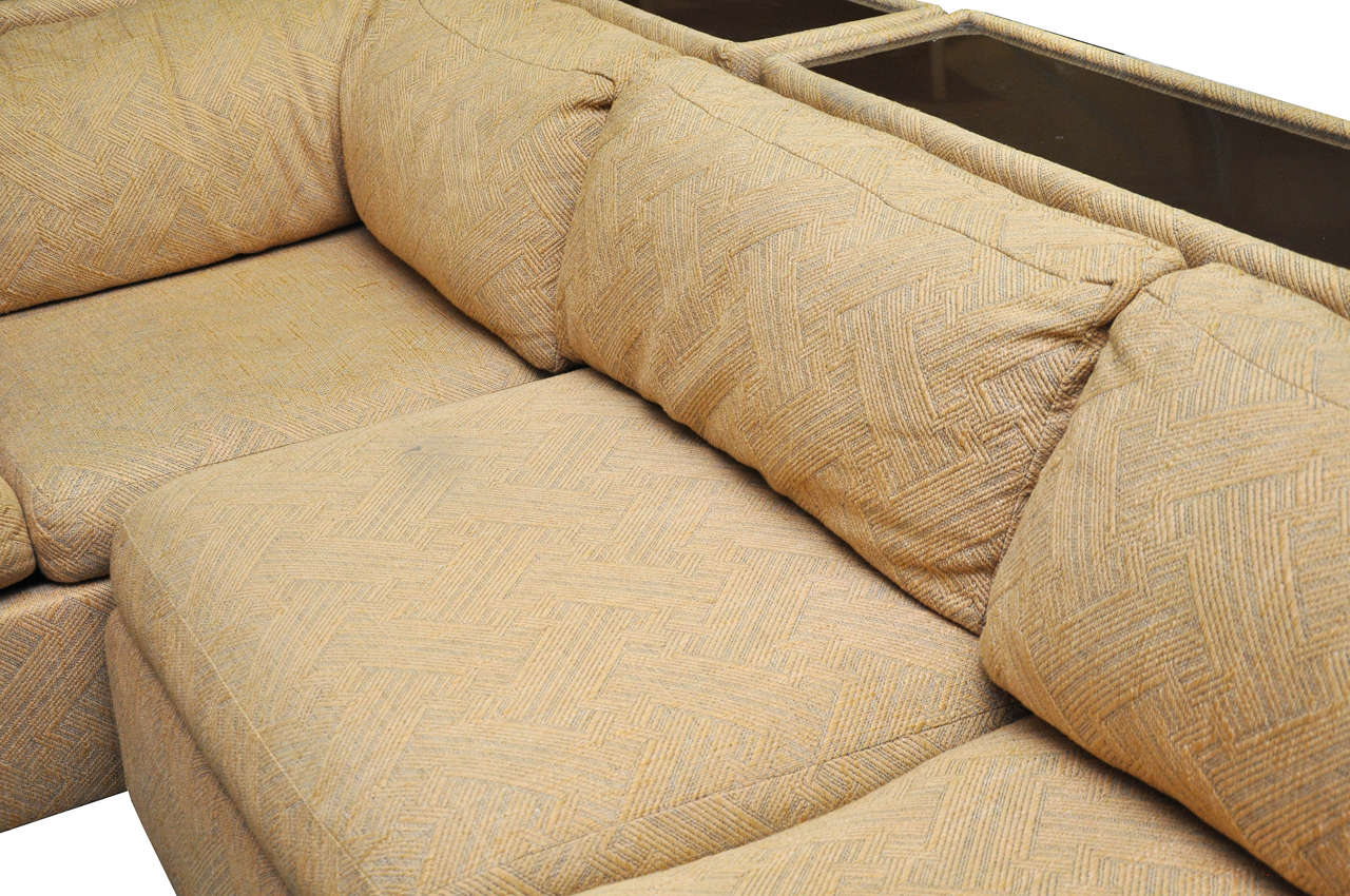 20th Century Four-Piece Milo Baughman Sectional Sofa in Original Upholstery For Sale