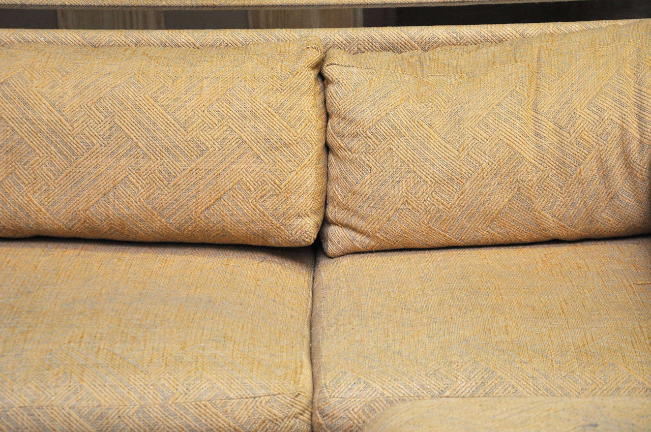 Four-Piece Milo Baughman Sectional Sofa in Original Upholstery For Sale 1