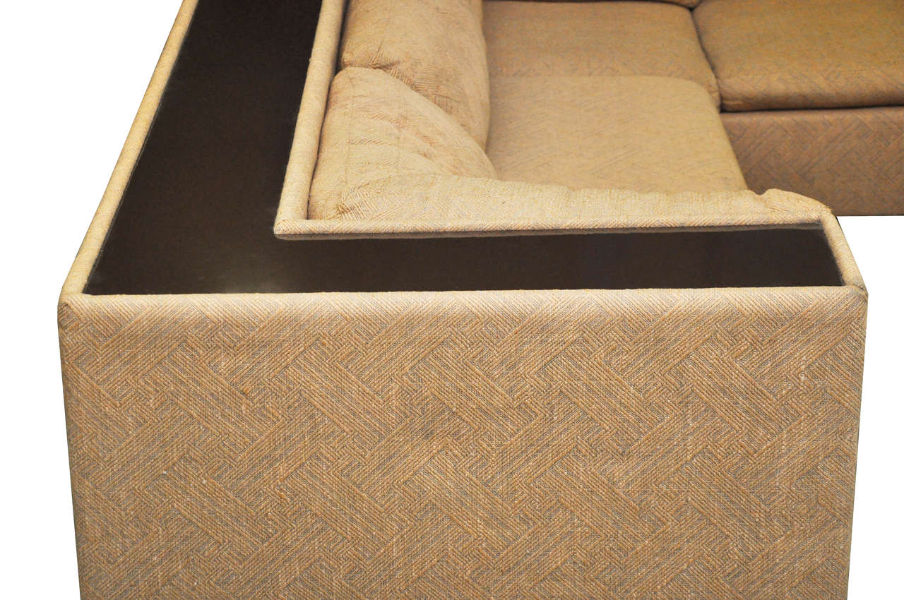 Four-Piece Milo Baughman Sectional Sofa in Original Upholstery For Sale 2