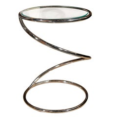 Pace Chrome Swirl drink table