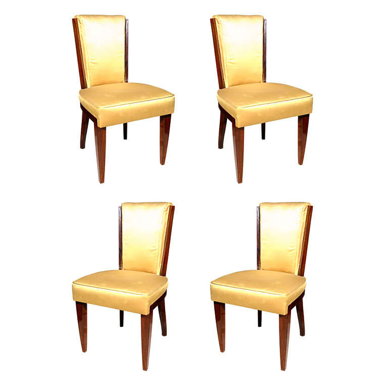 set of four dining chairs by eugene printz at 1stdibs
