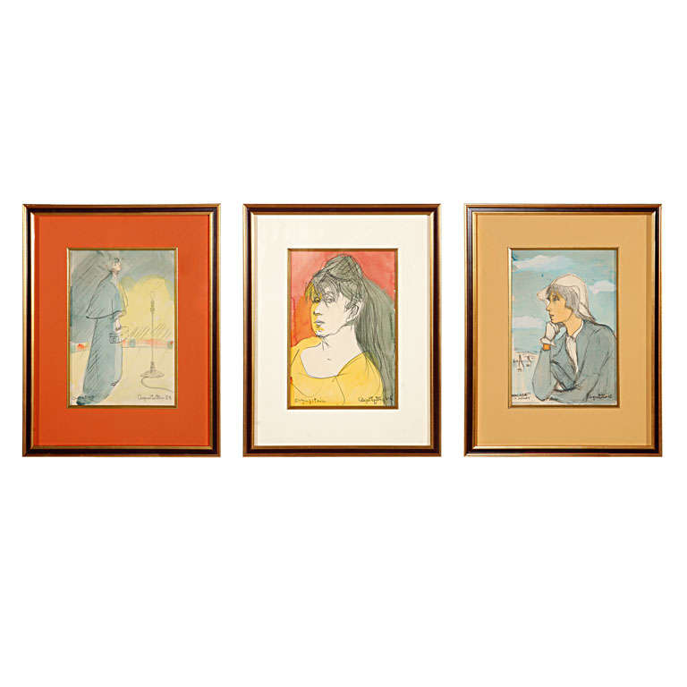 Custom Framed Paintings by Angna Enters