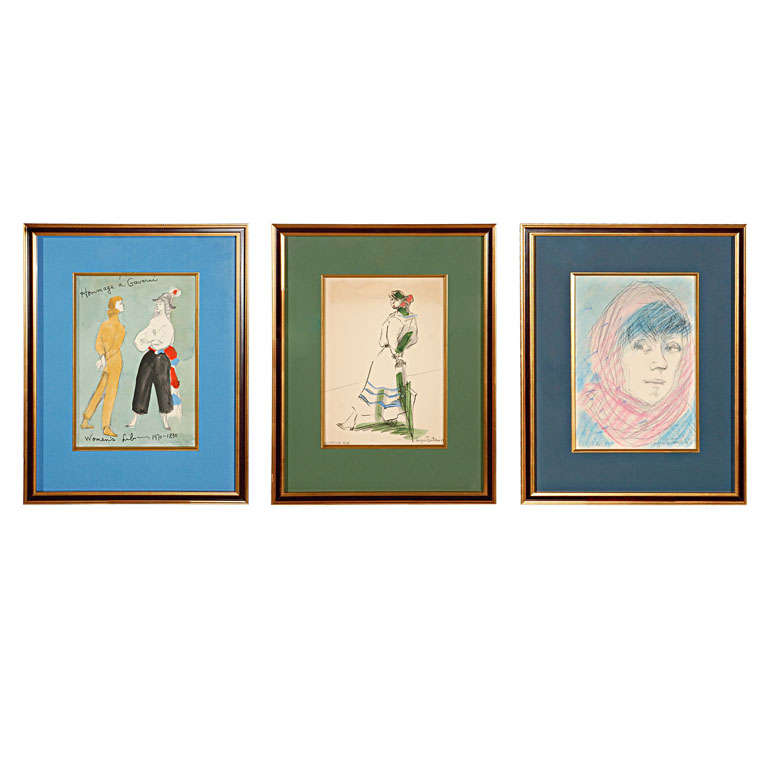Custom Framed Paintings by Angna Enters 1