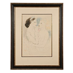 Custom Framed Lithograph by Marcel Vertes