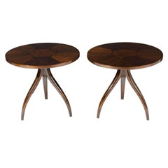 Pair of  Spider Leg Gueridon Lamp Tables by Drexel Furniture Company