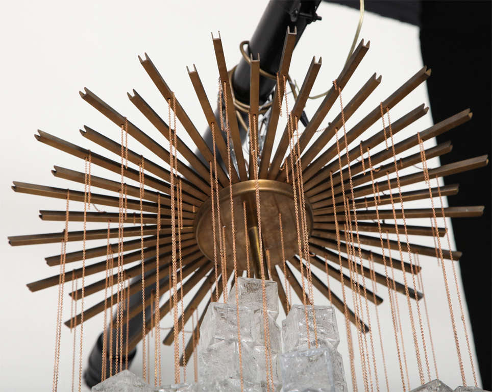 Mid-20th Century Chandelier Made By Mazzega