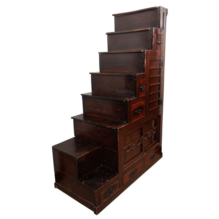 Japanese kaidan dansu staircase chest at 1stdibs for Chinese art furniture
