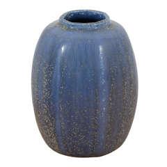 Blue Glazed Stoneware Vase by Arne Bang