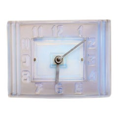 Léon Hatot 'ATO' Opalescent Glass Mantle Clock