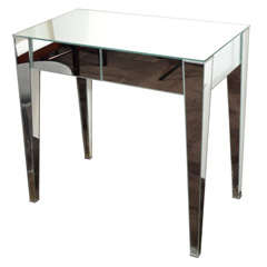 1940's Hollywood Mirrored Vanity with Directoire Style Design