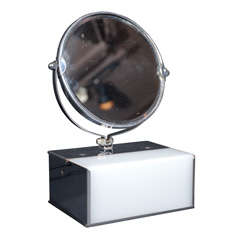 Art Deco Illuminated and Magnifying vanity Mirror