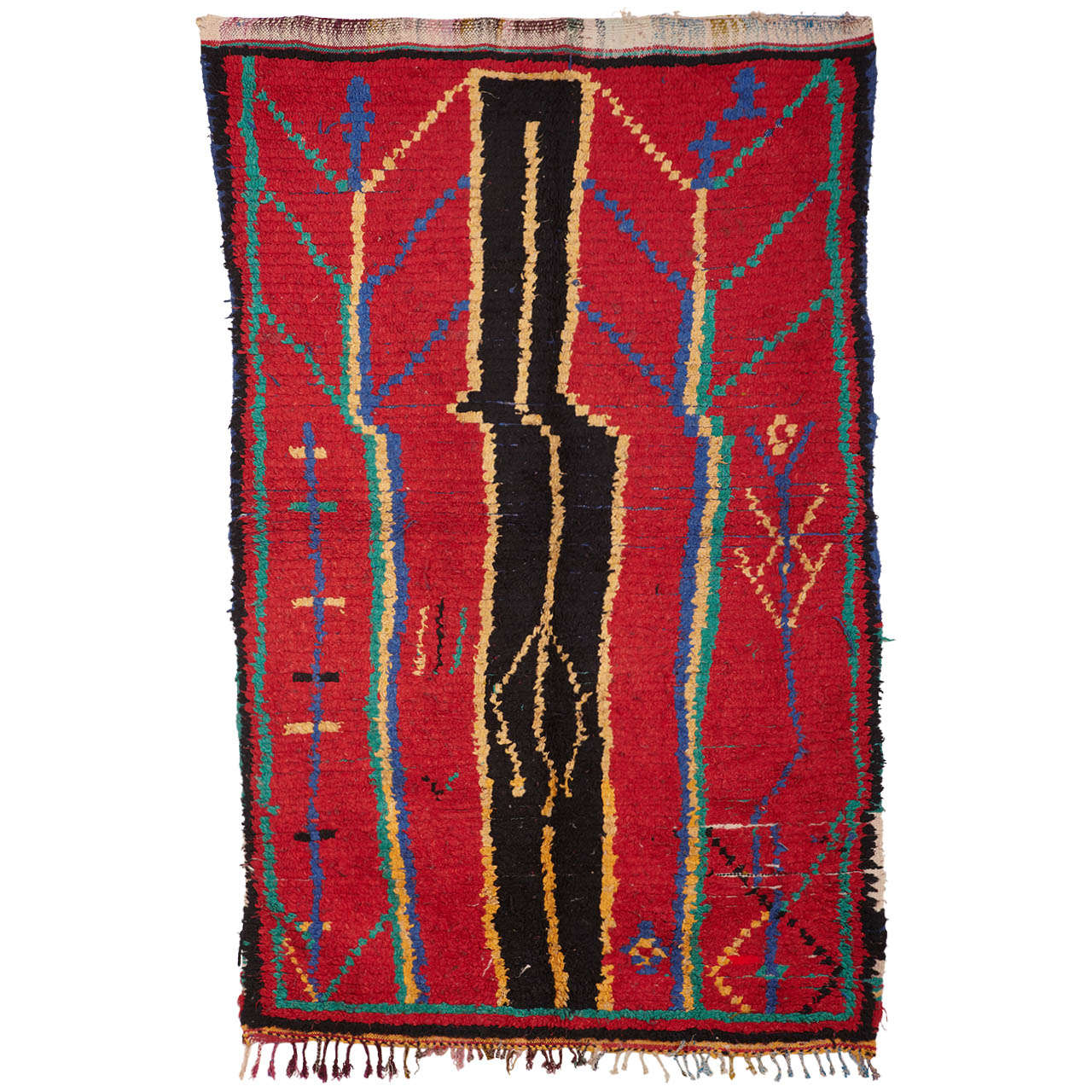 Moroccan Boucherouite Rug For Sale At 1stdibs: Primitive Moroccan Rug For Sale At 1stdibs