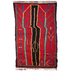 Vintage Azilal Abstract Berber Moroccan Rug