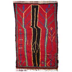 Vintage Azilal Abstract Berber Moroccan Rug