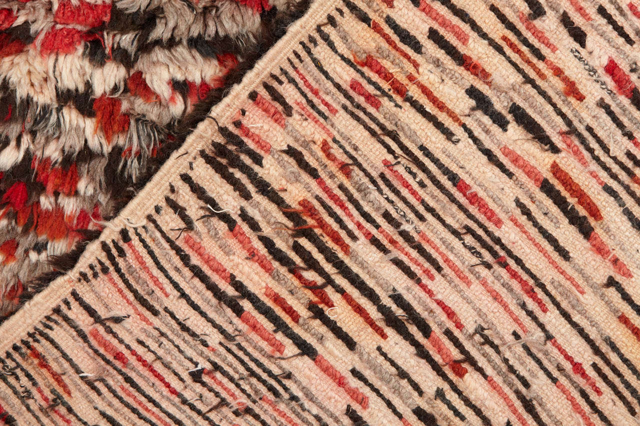 Late 20th Century Vintage Azilal Abstract Moroccan Berber Rug For Sale