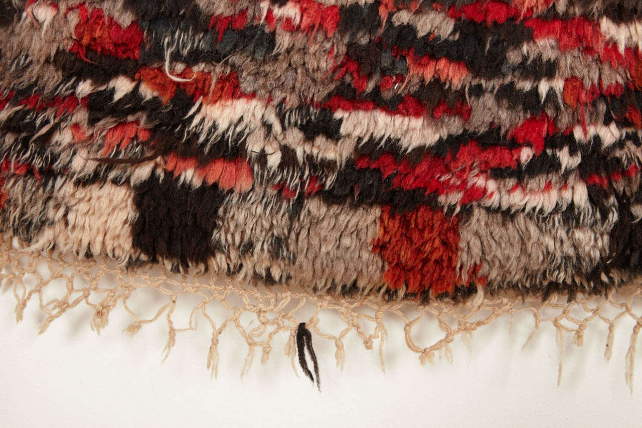 Wool Vintage Azilal Abstract Moroccan Berber Rug For Sale