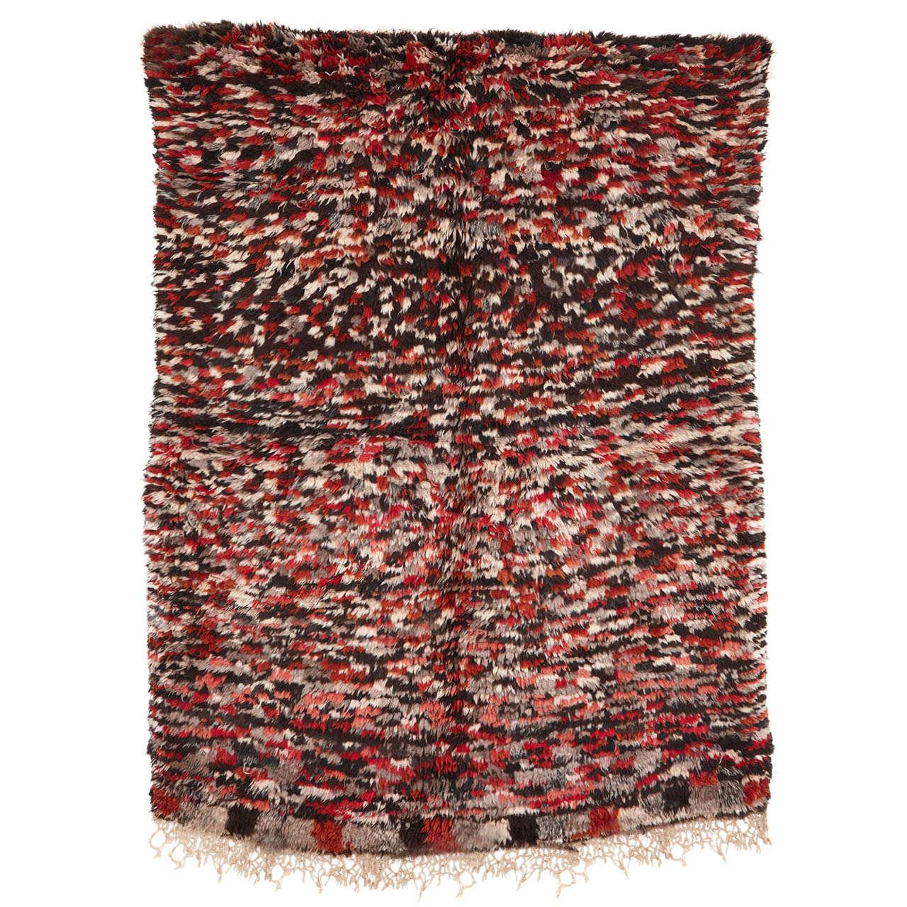 Vintage Azilal Abstract Moroccan Berber Rug