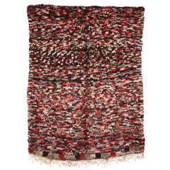 Vintage Azilal Abstract Moroccan Berber Rug